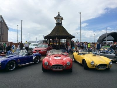 Cleveleys clock shelter at the car show, Save our Clock Shelter Campaign