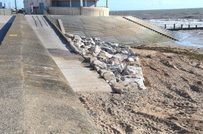 Completed ramp to Cleveleys beach
