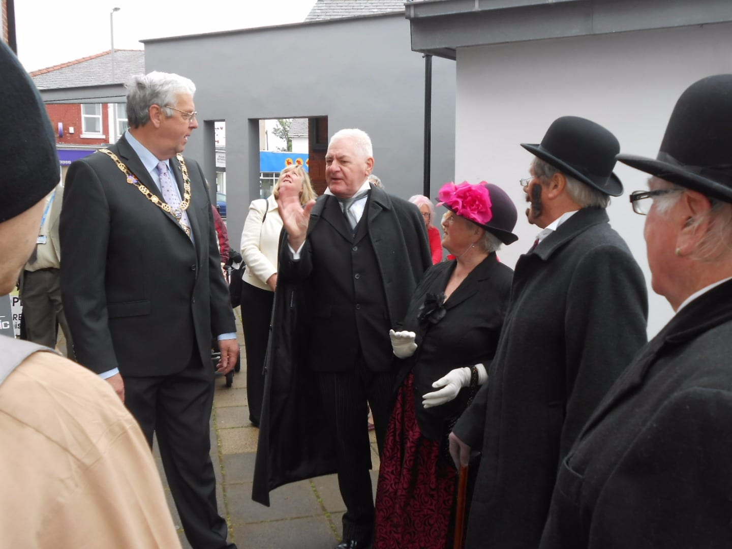 the Windmill Players entertain Deputy Mayor Wyre Councillor Ron Greenhough