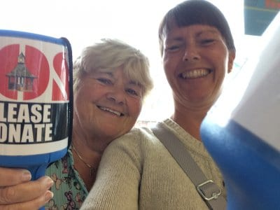 Collecting in Tesco, Save our Clock Shelter Campaign