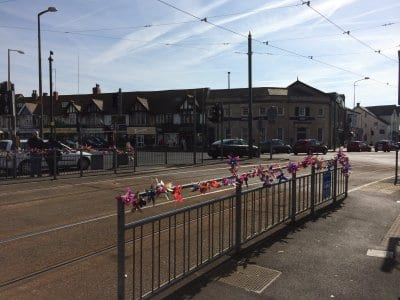 Recycled Plastic Flowers Brighten up Cleveleys!