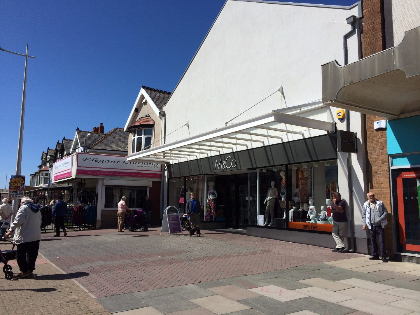 People waiting outside M&Co Cleveleys