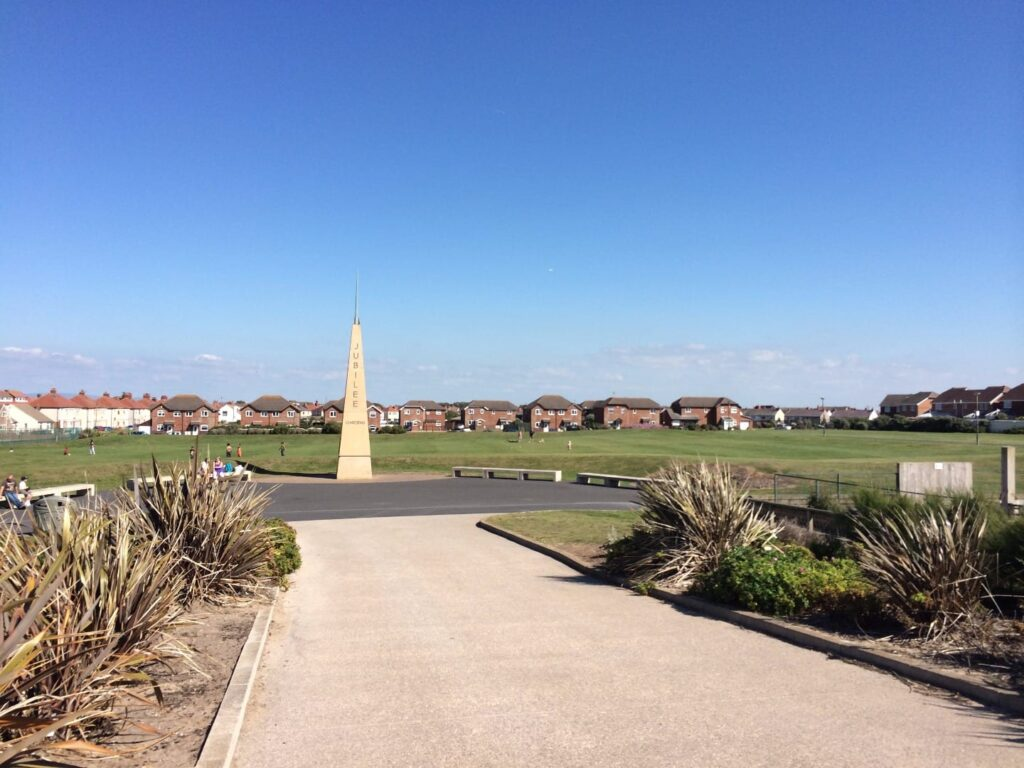 Obelisk in Jubilee Gardens Cleveleys