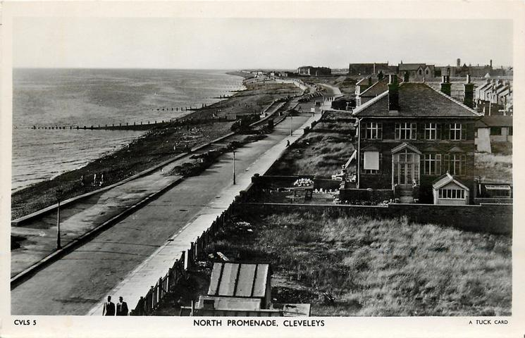 North Promenade, Cleveleys, 1937 from Tuck Postcards