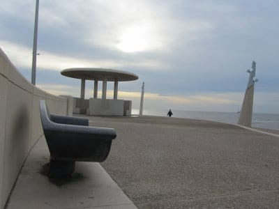 Bench on Cleveleys promenade