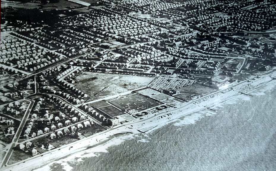 Aerial photo of Jubilee Gardens area at Cleveleys
