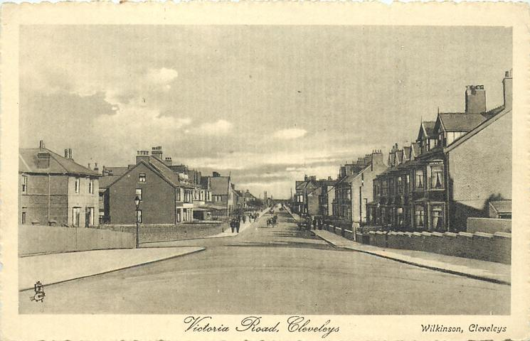 Victoria Road Cleveleys in 1914 from Tuck Postcards