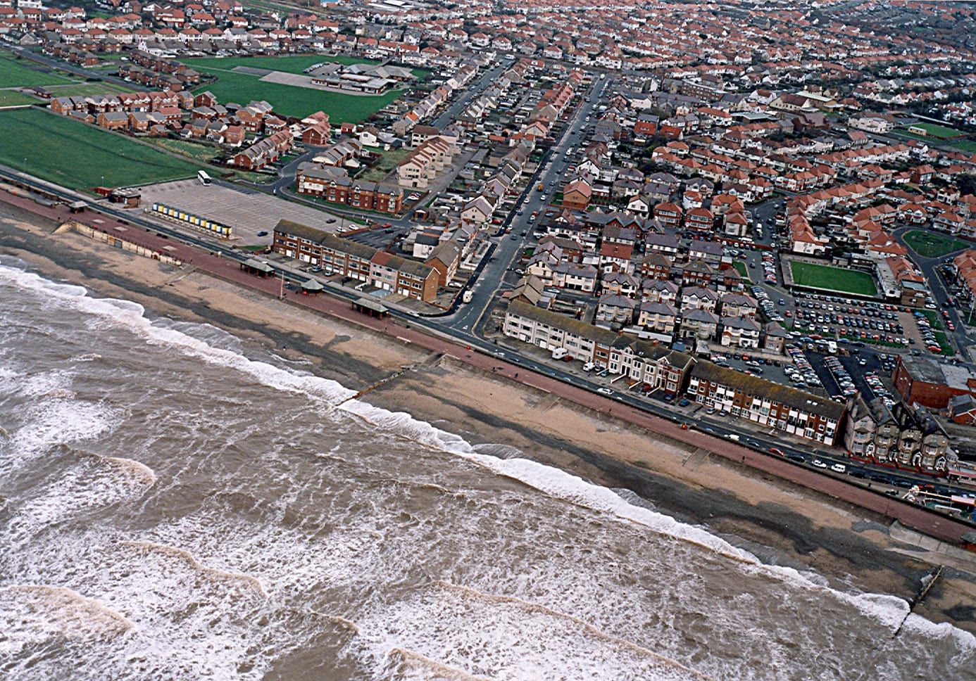 Beach Road at Cleveleys before the sea wall was built