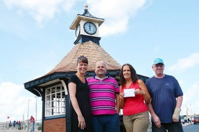 Thornton Cleveleys Past Facebook Group members donate to the clock fund, Save our Clock Shelter Campaign