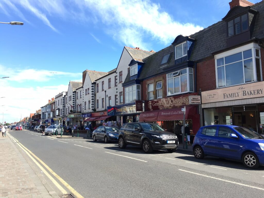 Shopping in Cleveleys town centre, Victoria Road West