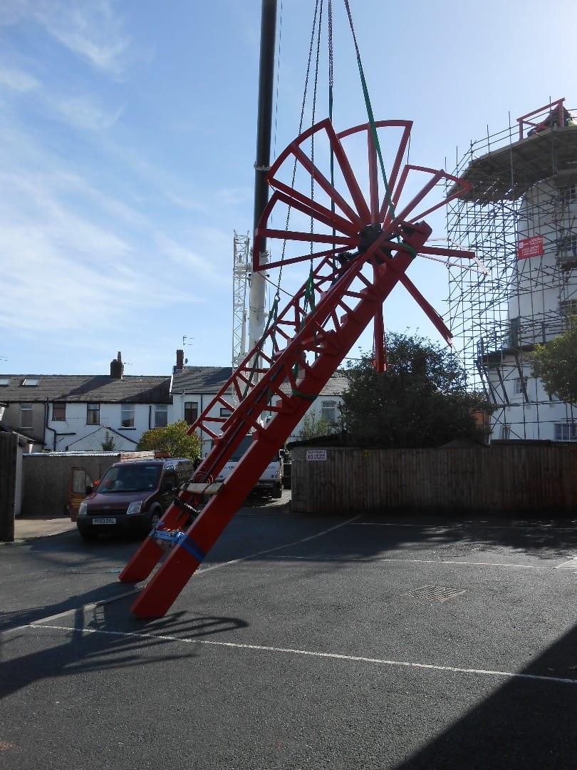 New fantail at Marsh Mill windmill, Thornton