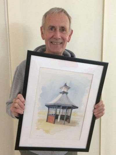 Original clock shelter painting, Save our Clock Shelter Campaign