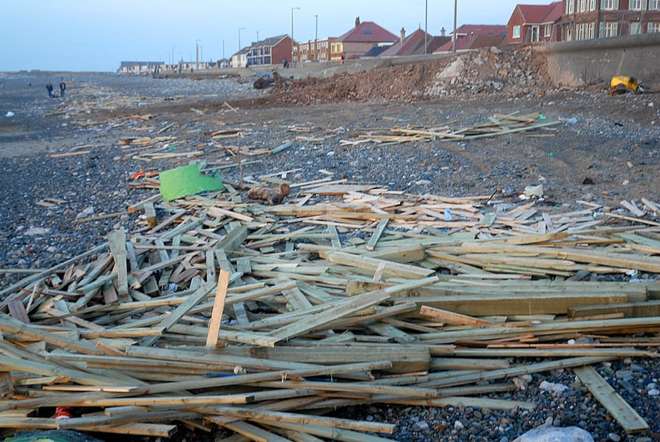 Planks washed up from the Riverdance Shipwreck