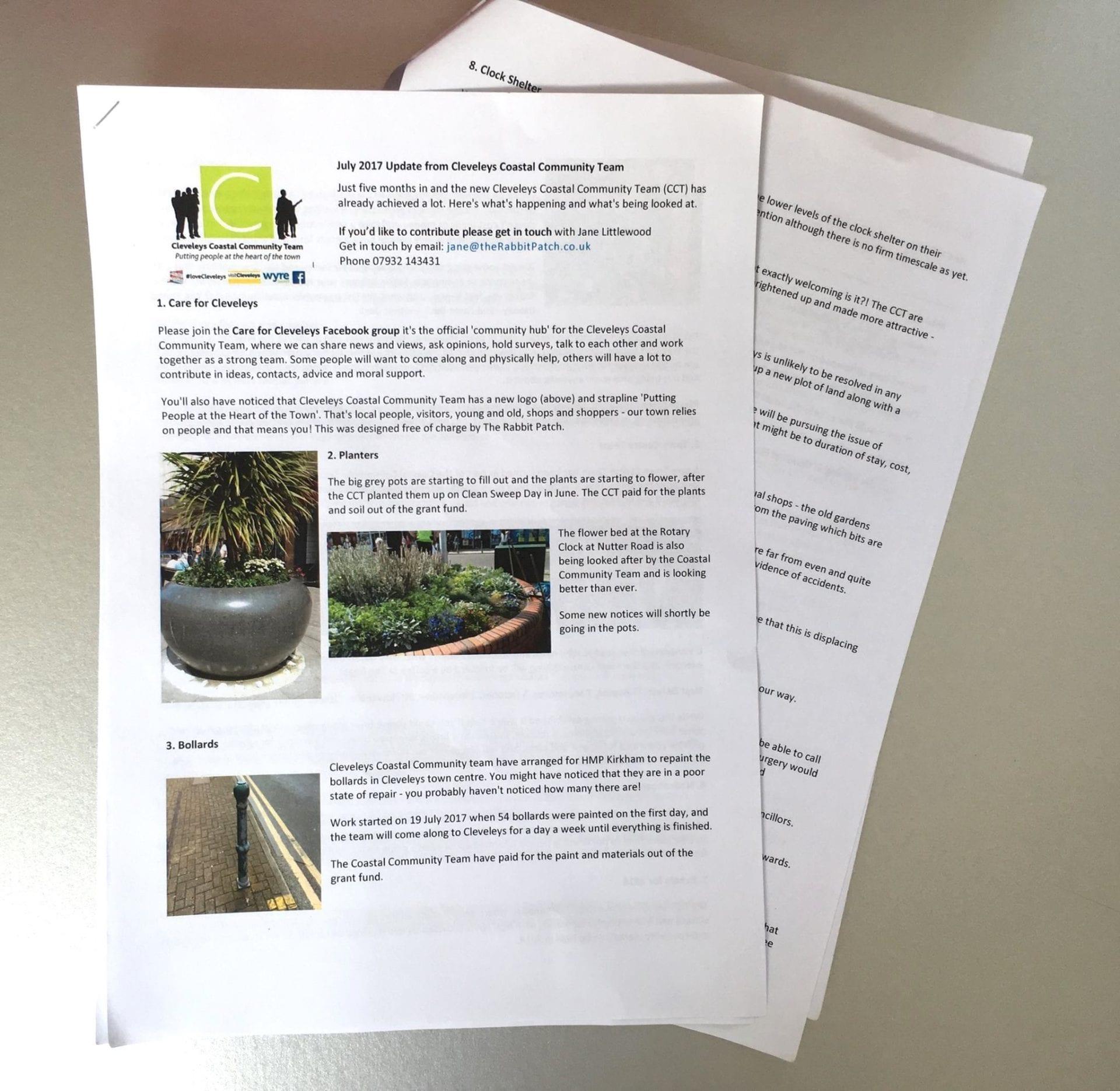 Cleveleys Coastal Community Team Updates, 2017