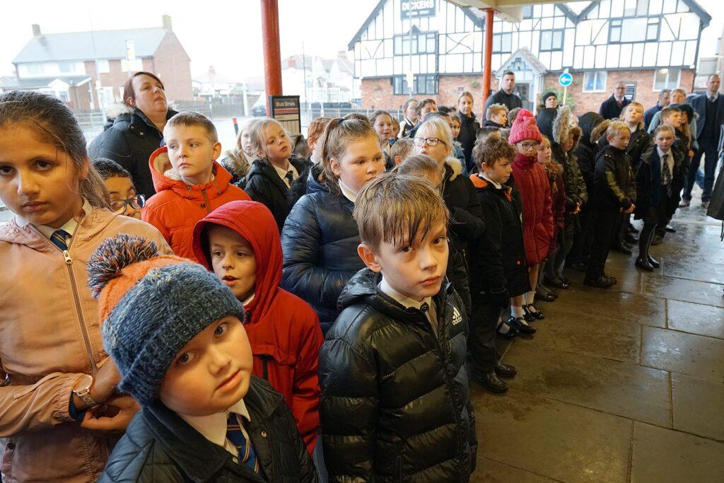 Children from Manor Beach School singing. Cleveleys Coastal Community Team updates