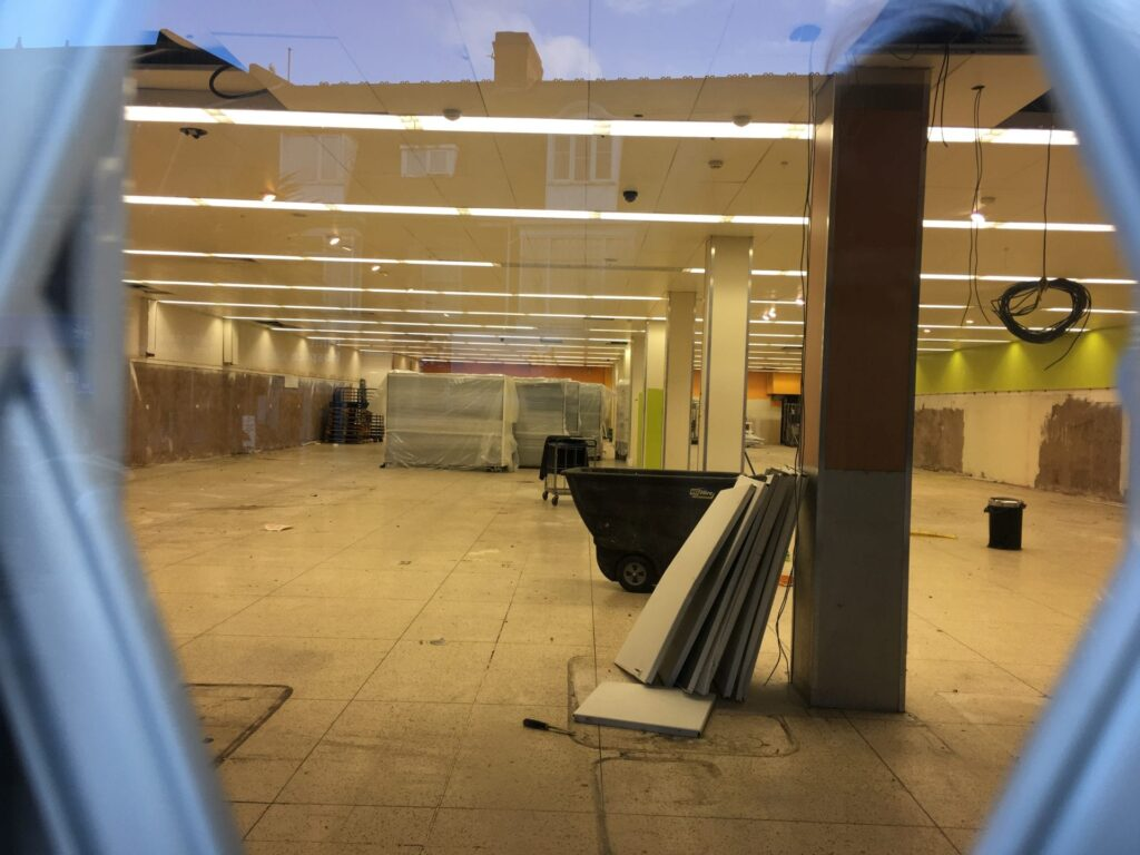 Cleveleys Tesco stripped out