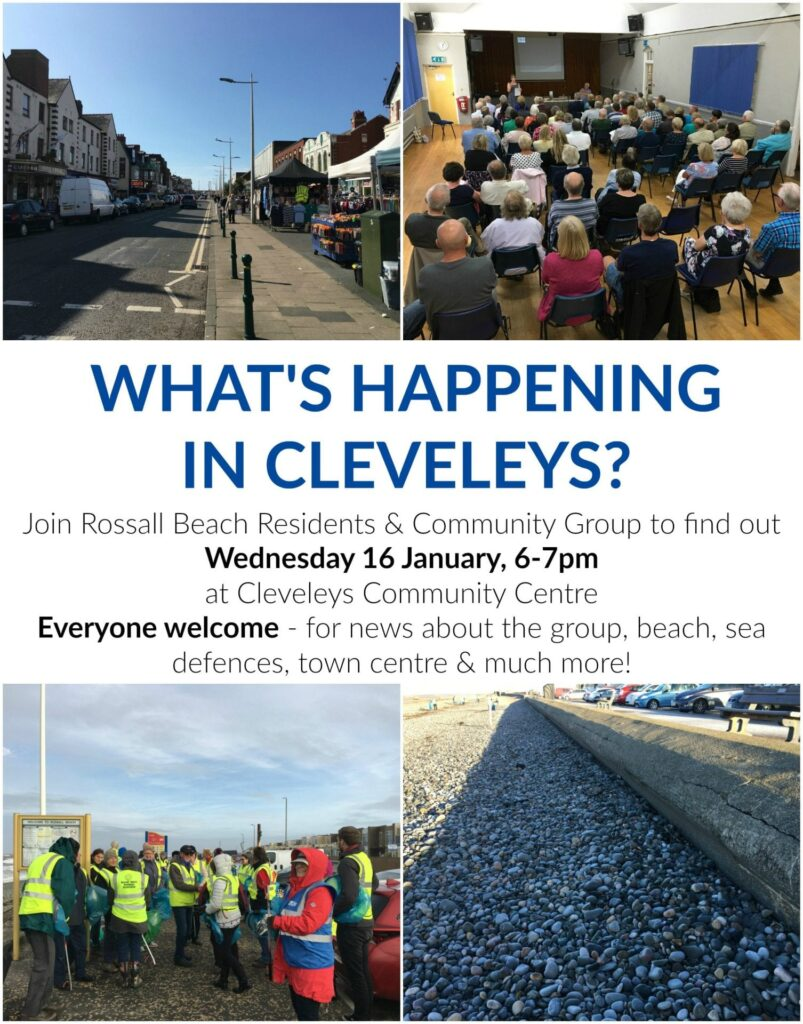 What's happening in Cleveleys, with Rossall Beach Residents & Community Group